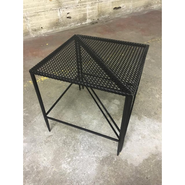Contemporary Mathieu Mategot Pair of Triangle Coffee Tables For Sale - Image 3 of 5