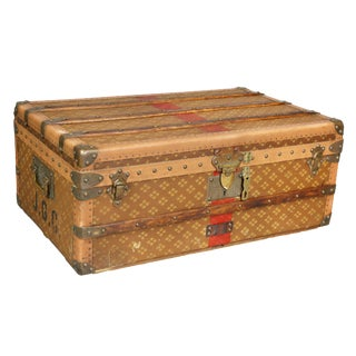French Steamer Trunk by Aux Etats Unis For Sale