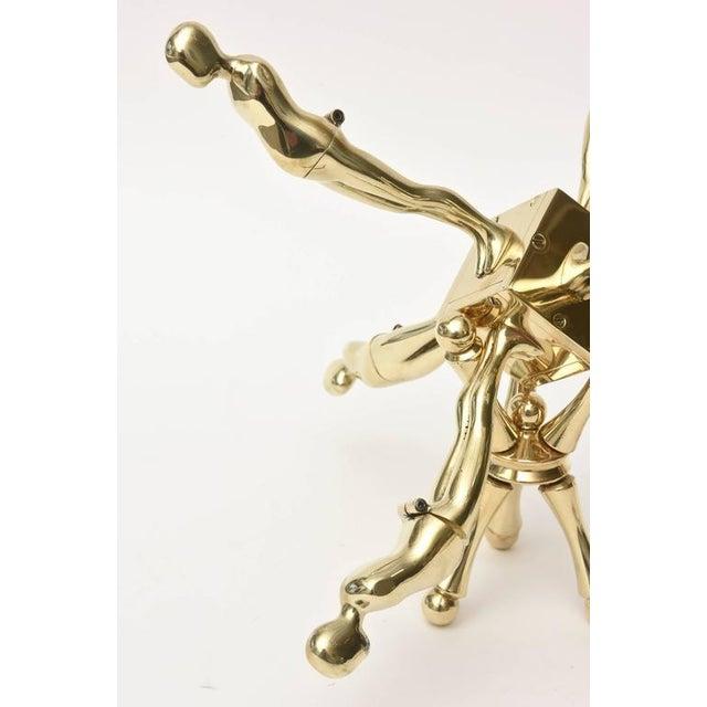 Ernest Trova One of Kind Ernest Trova Polished Brass Falling Man Sculpture For Sale - Image 4 of 11