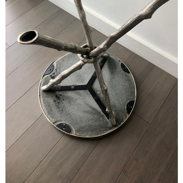 Black Twig Branch Tripod Accent Tables - a Pair For Sale - Image 8 of 12