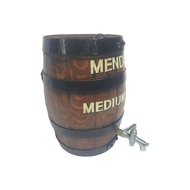 Old English Oak Wine Barrel - Image 3 of 6