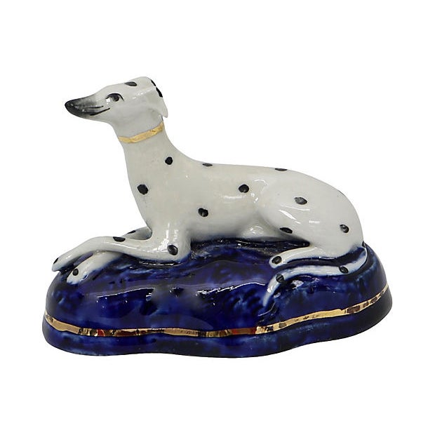 Cottage Antique English Staffordshire Dalmation For Sale - Image 3 of 3