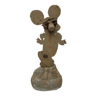 "American Folk Art Sculpture ""Dancing Mickey"" For Sale"