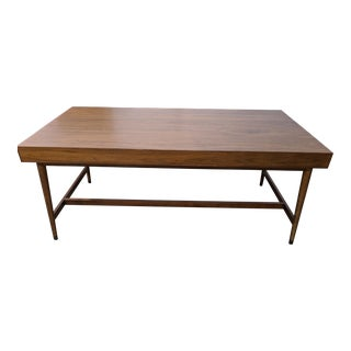 Mid Century West Elm Writing Desk Large For Sale