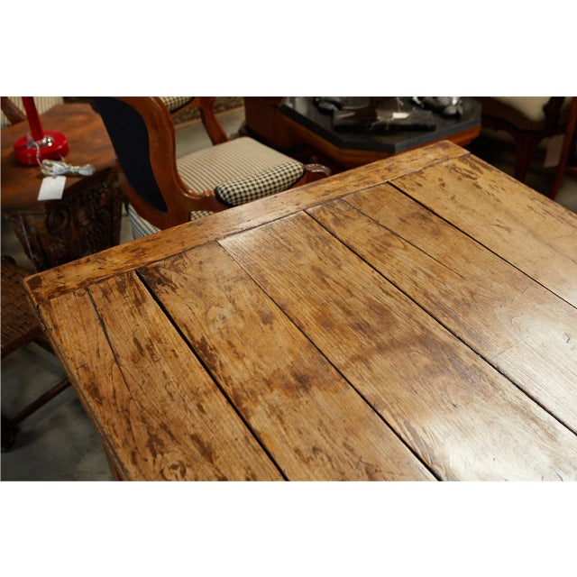 Wood French Country Dining Table With Pull Out Leaves For Sale - Image 7 of 12