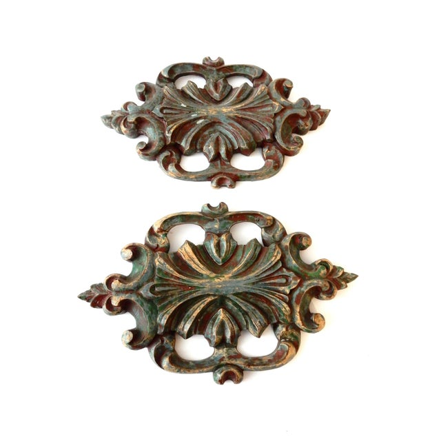 Italian Baroque-Style Wall Hangings - A Pair - Image 2 of 4