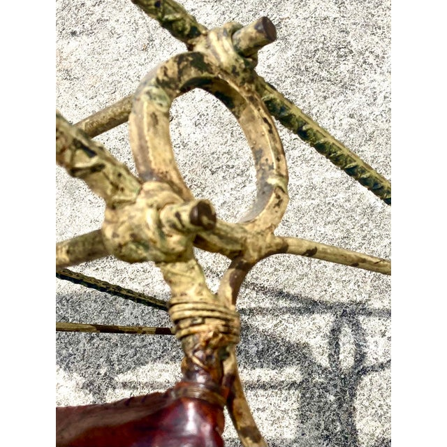 Vintage Brutalist Sculpted Rebar Dining Chairs in the Manner of Ilana Goor - Set of 6 For Sale In West Palm - Image 6 of 13