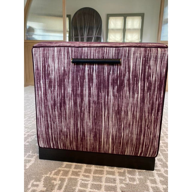 Maroon Featured in the 2020 San Francisco Decorator Showcase — Custom Maroon Dining Bench, Pair Available For Sale - Image 8 of 9