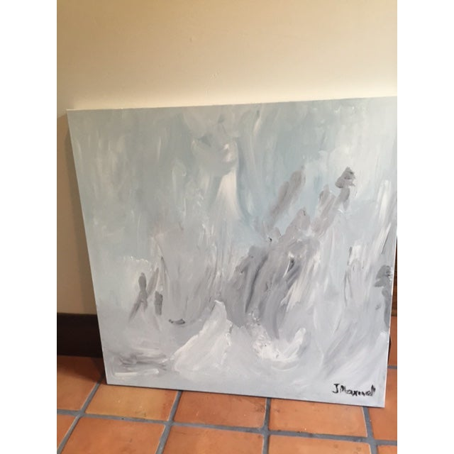 """""""Untitled #2"""", Gray Abstract Painting - Image 2 of 8"""
