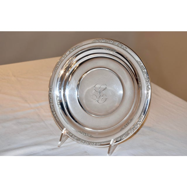 Metal Sterling Sandwich Plate, Circa 1936 For Sale - Image 7 of 7