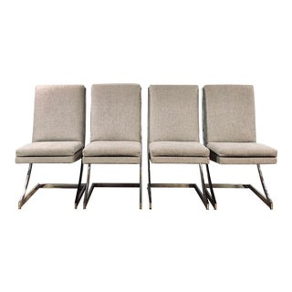 Vintage Mid Century Modern Design Institute America Sling Back Dining Chairs- Set of 4 For Sale