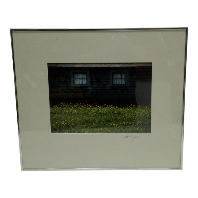 Covered Windows by Van Brynn Framed Color Photograph For Sale