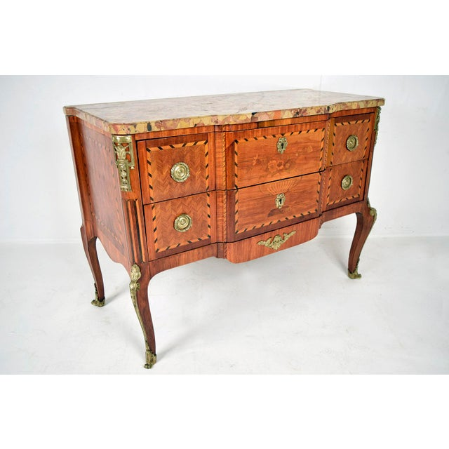 Traditional 19th Century French Louis XVI-style Inlaid Chest of Drawers - Image 6 of 11