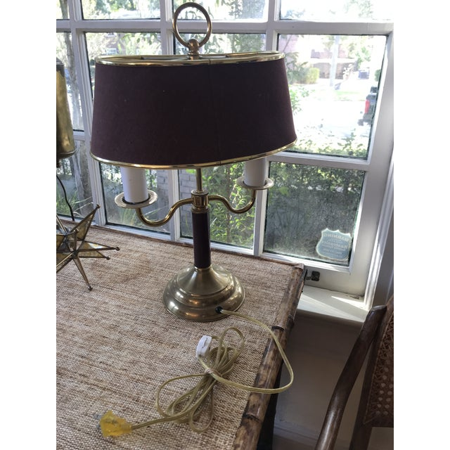 1940s 1940s Vintage Double Candle Bouillotte Lamp For Sale - Image 5 of 12