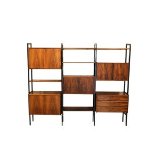 Mid Century Modern Room Divider Bookcase Hutch Desk For Sale