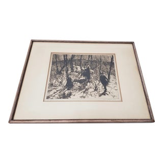 "John Edward Costigan (American, 1888-1972) ""Springtime"" Signed Etching C. 1930s For Sale"