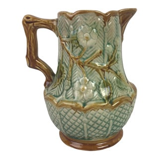 19th c. French Majolica Pitcher