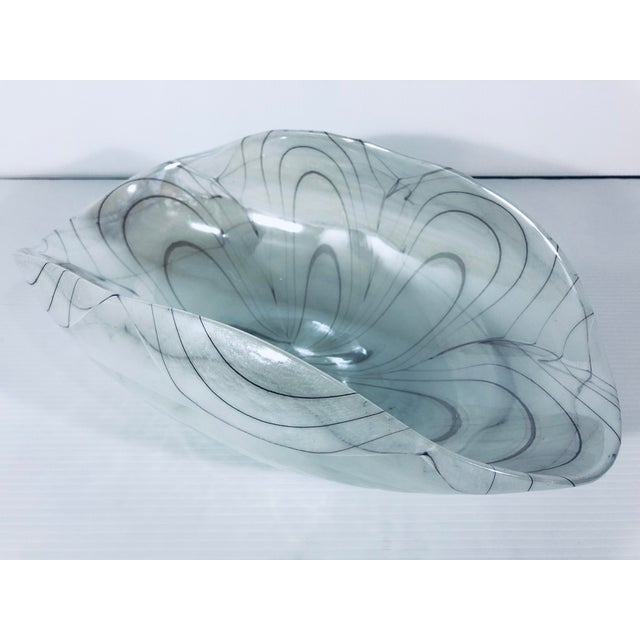 1970s Vintage Murano Glass Bowl For Sale - Image 9 of 9