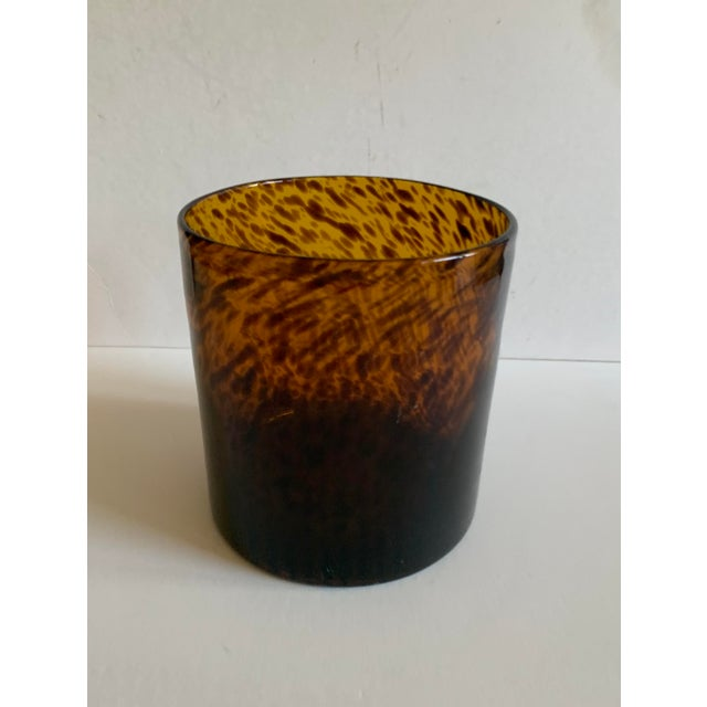 Glass Bloomingville Tortoise Shell Glass Vase/Ice Bucket For Sale - Image 7 of 7
