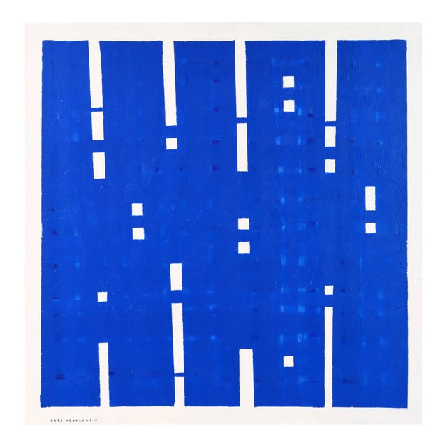 """Early 21st Century Abstract Contemporary Acrylic Painting on Canvas, """"Lights On"""" by Lars Hegelund - Image 1 of 11"""