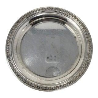 Vintage Hotel Silver Platter, Found in France For Sale