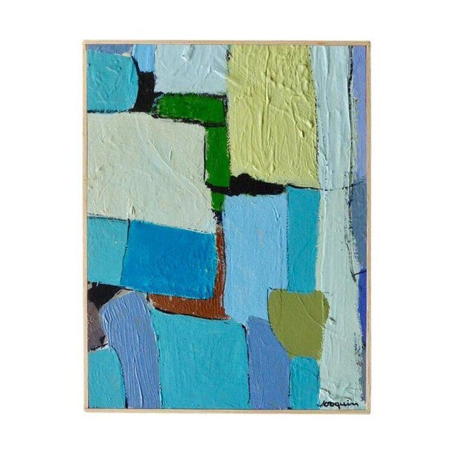 """Carrés Et Couch De Couleur"" an Original Contemporary Painting by American Artist Kenneth Joaquin For Sale - Image 13 of 13"