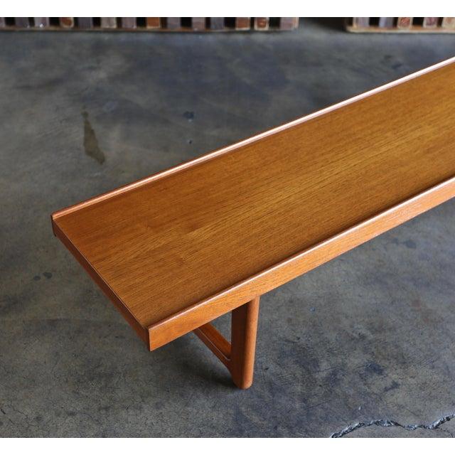 """1960s Vintage Teak """"Krobo'' Bench by Torbjørn Afdal for Bruksbo For Sale - Image 9 of 11"""