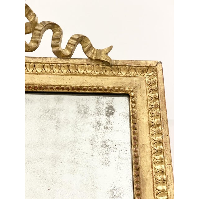 French 18th C. Ribbon Crest Mirror For Sale - Image 3 of 8