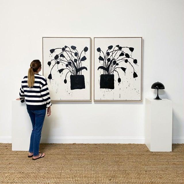 "2020s Exclusive John O'Hara ""Botanical, 10"" Encaustic Paintings (2-Panel) For Sale - Image 5 of 8"