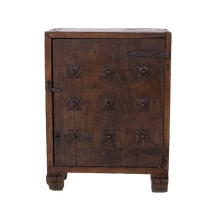 Late Baroque Period Single Door Cabinet With Nine Cast Iron Quatrefoil Medallions; Spanish, Circa 1750 For Sale