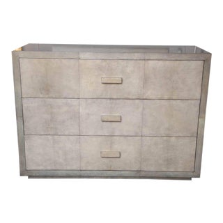Custom Parchment Oversized Two-Tone Dresser For Sale