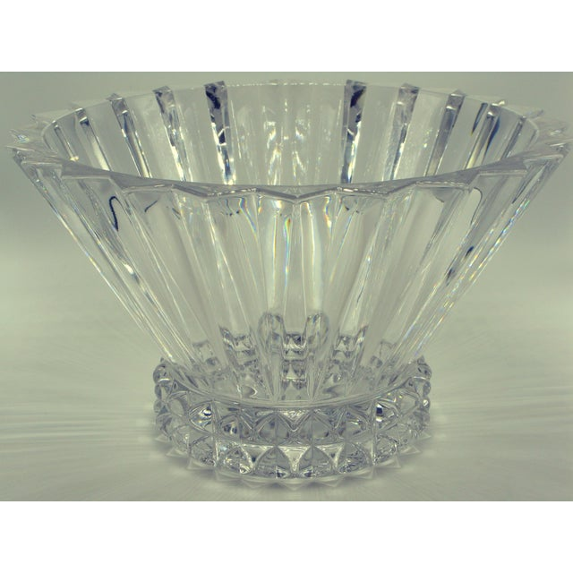 German Brutalist Crystal Centerpiece Fruit Bowl For Sale - Image 9 of 10