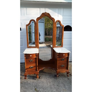 Vanity With Tri-View Mirror and Bench by Lexington Preview