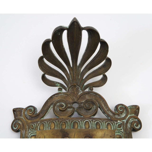 Bronze Neoclassical Beaux-Arts Wall Sconces, Circa 1910 For Sale - Image 4 of 7