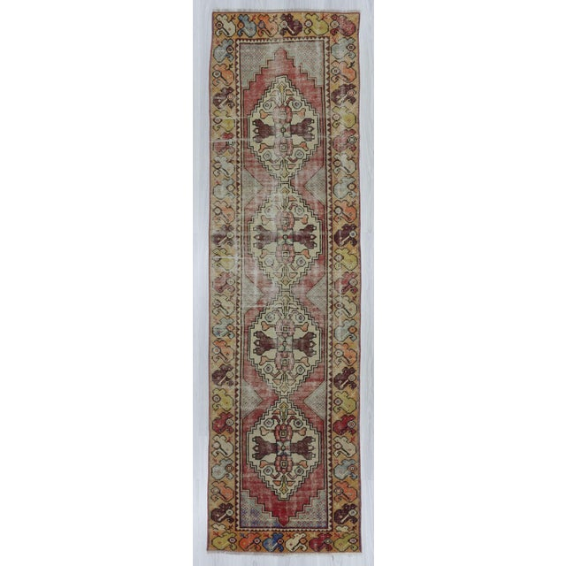 "Vintage Turkish Distressed Runner Rug - 2'5"" x 8'8"" - Image 2 of 6"