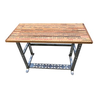 Vintage Industrial & Handmade Desk/Console/Bar/ Table For Sale