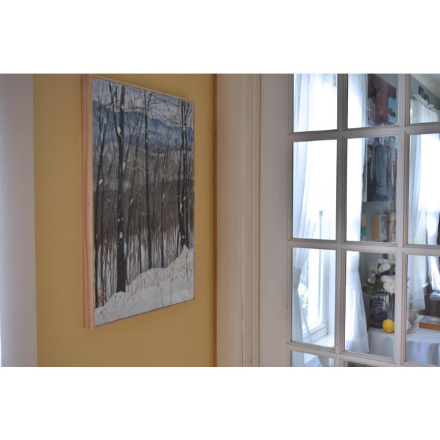 "Stephen Remick ""Snowy Mountains Through Bare Trees"" Contemporary Landscape Painting For Sale - Image 10 of 12"
