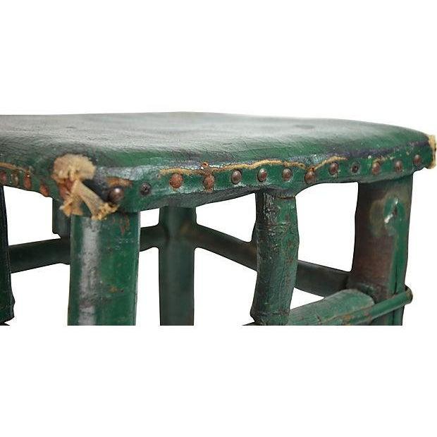 Adirondack Twig & Leather Footstool - Image 4 of 5