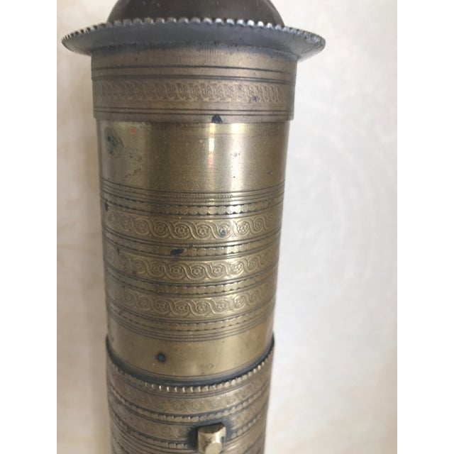 Islamic Vintage Turkish Brass Coffee Grinder For Sale - Image 3 of 4