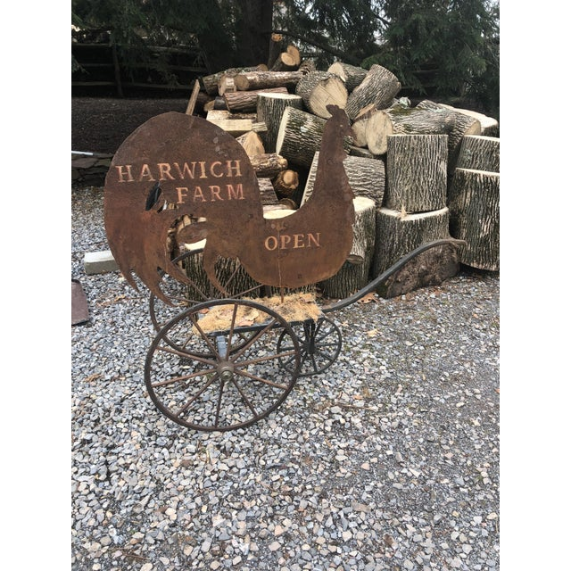 Country Tin Harwich Rooster Sign For Sale - Image 12 of 12