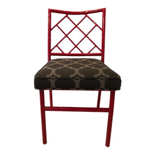 Lacquered Bamboo Design Side Chair