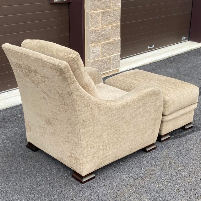 RJones RJones Lounge Chair & Ottoman For Sale - Image 4 of 13