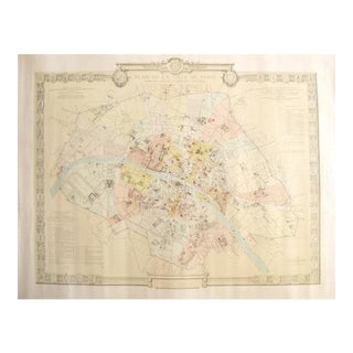 1887 Original French Map of Paris, La Ville De Paris Periode Revolutionaire 1790-1794 For Sale