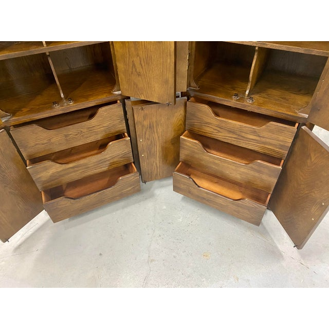 Metal Vintage Henredon Campaign Chifforobe- a Pair For Sale - Image 7 of 11