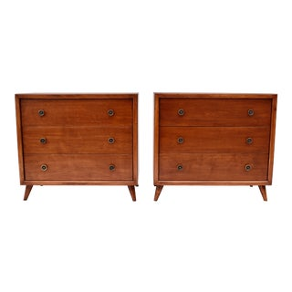 1950's John Stuart Bachelor Chests, Pair For Sale