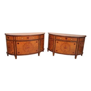 Regency Satinwood Cabinets - A Pair For Sale