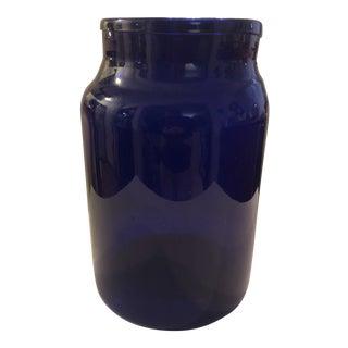 Cobalt Blue Glass Storage Jar For Sale