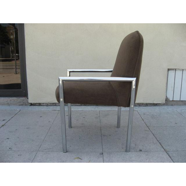1970s Chrome Armchairs - Set Of 6 For Sale - Image 4 of 4