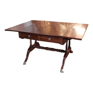 "Circa 1820 ""Partners"" Drop-Leaf Sofa Table or Writing Desk For Sale"