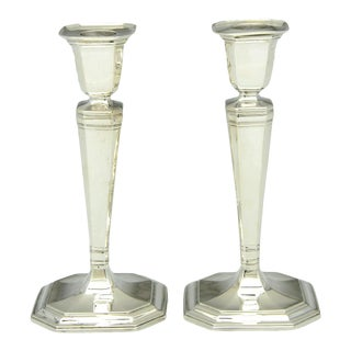 1930s Tiffany Hampton Sterling Candlestick - a Pair For Sale